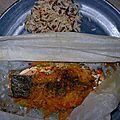 Papillote de saumon aux petits légumes