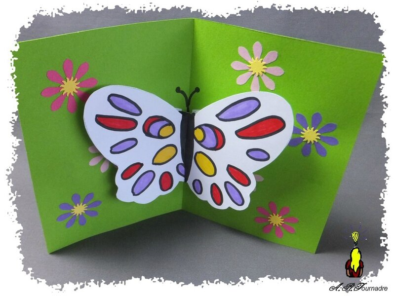 Carte pop up en x une envol e de papillons pour les coliers les passions d 39 art - Carte pop up facile ...
