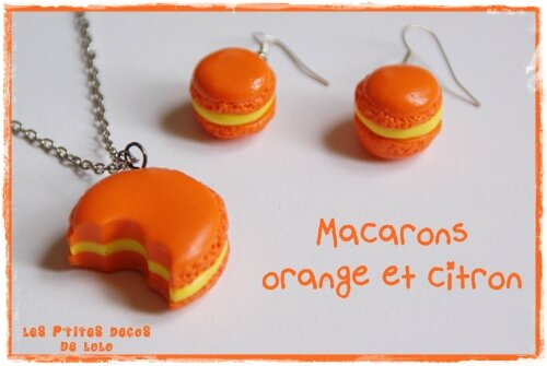 Macarons orange et citron
