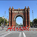 triumphal arch of barcelona
