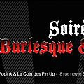 Let's gooo ... soiree burlesque, mode, surprises et tattoo au coin des pin up