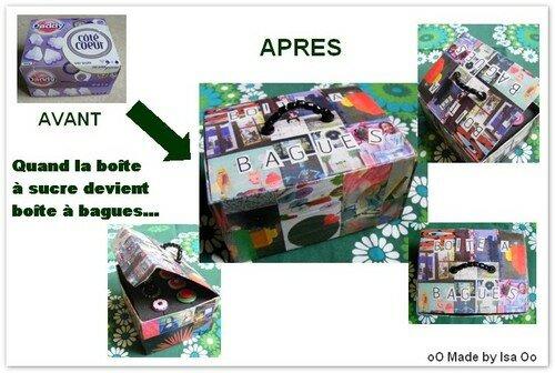 Recyclage Papier/Carton: coffret à bagues à partir d'une boîte à
