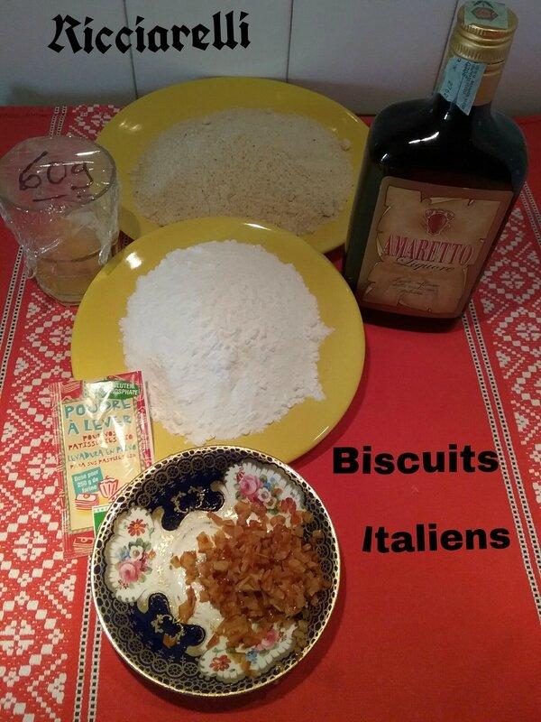 RICCIARELLI , Biscuits Italiens ( aux amandes ) 179