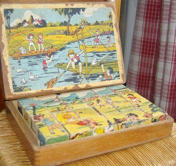 50 jeu cubes en bois