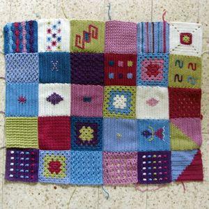 Assemblage 30 carrés Crochet Facile