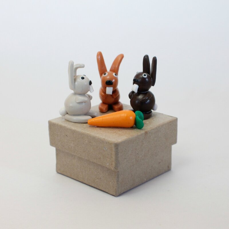 boite 3 lapins + carotte 1