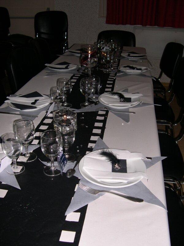 D cors de table et de salle sur le th me cin ma photo for Table theme cinema