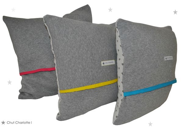 Coussins Coeurs Gris (2bis)