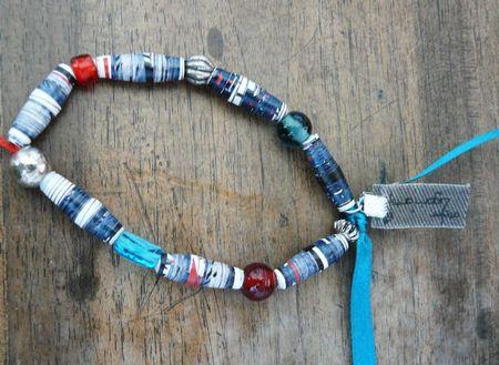 bracelet papier bleu
