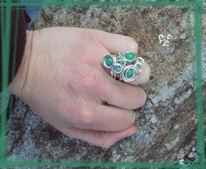 parure grappolo vert jade bague2