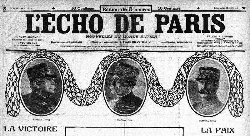 Echo de Paris 29 06 19