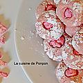 Amaretti à l'arôme de framboise et praline rose