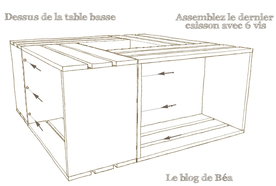 pas pas table basse bar le blog de b a. Black Bedroom Furniture Sets. Home Design Ideas