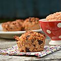 Muffins coings - noisettes - chocolat