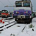 BB 7205 dans la neige au dépôt de Bordeaux