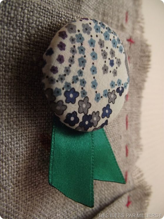 Broche en Liberty Bleu