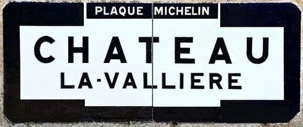 Chateau-la-Valliere 37 plaque Michelin