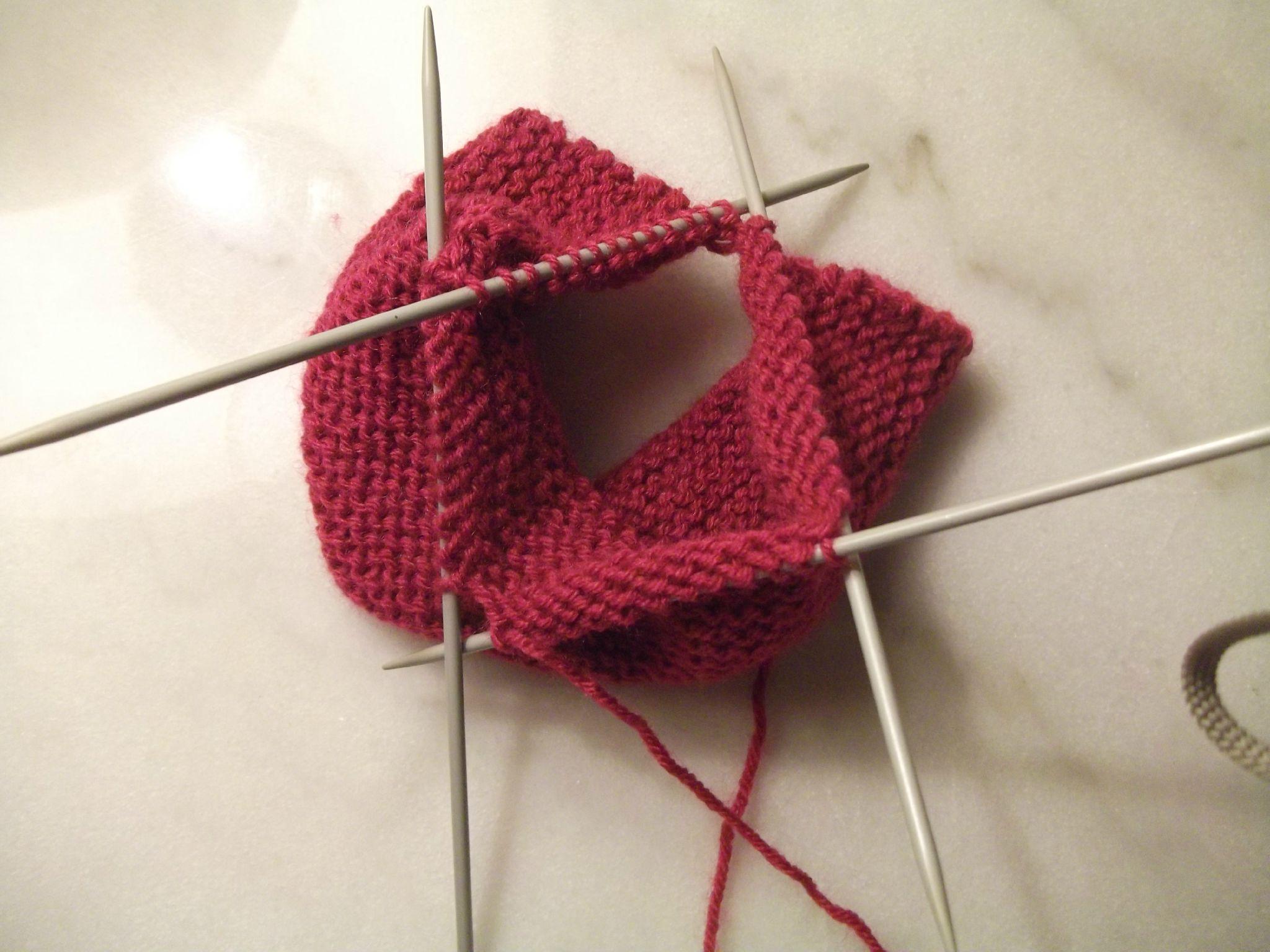 tricoter jersey en rond