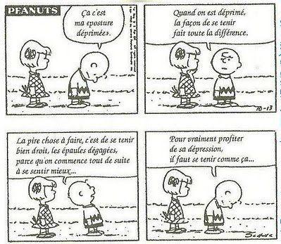 peanuts posture déprime