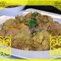 Chou-fleur au curry et aux pois chiche