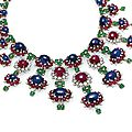 A magnificent ruby, sapphire, emerald and diamond necklace, by bulgari