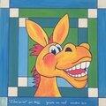 Pas à pas pour peindre un âne humoristique sur isorel par domi