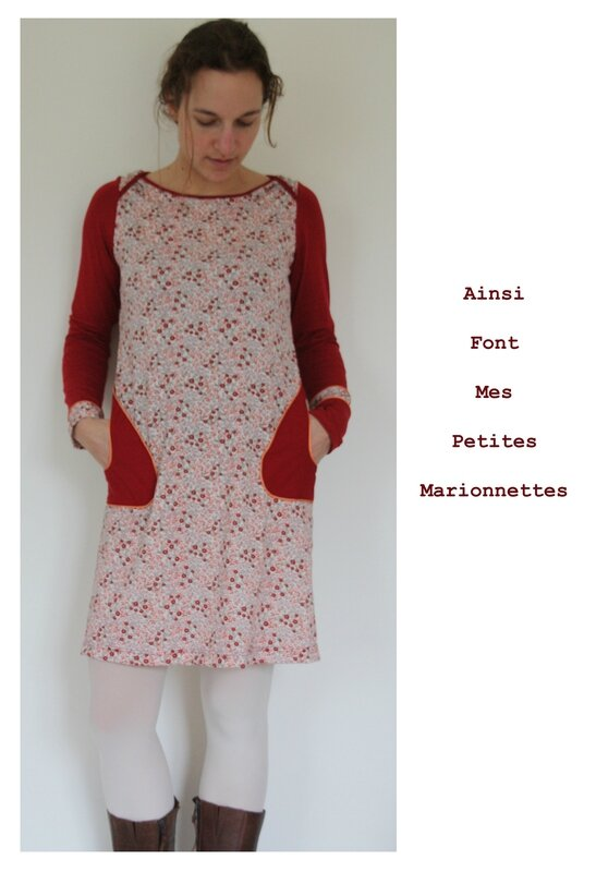 robe rouge orange fleurie 6