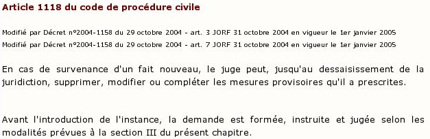 Code De Procédure Civile -  art 1118