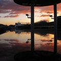 Belle couleurs de l'aube depuis le toit