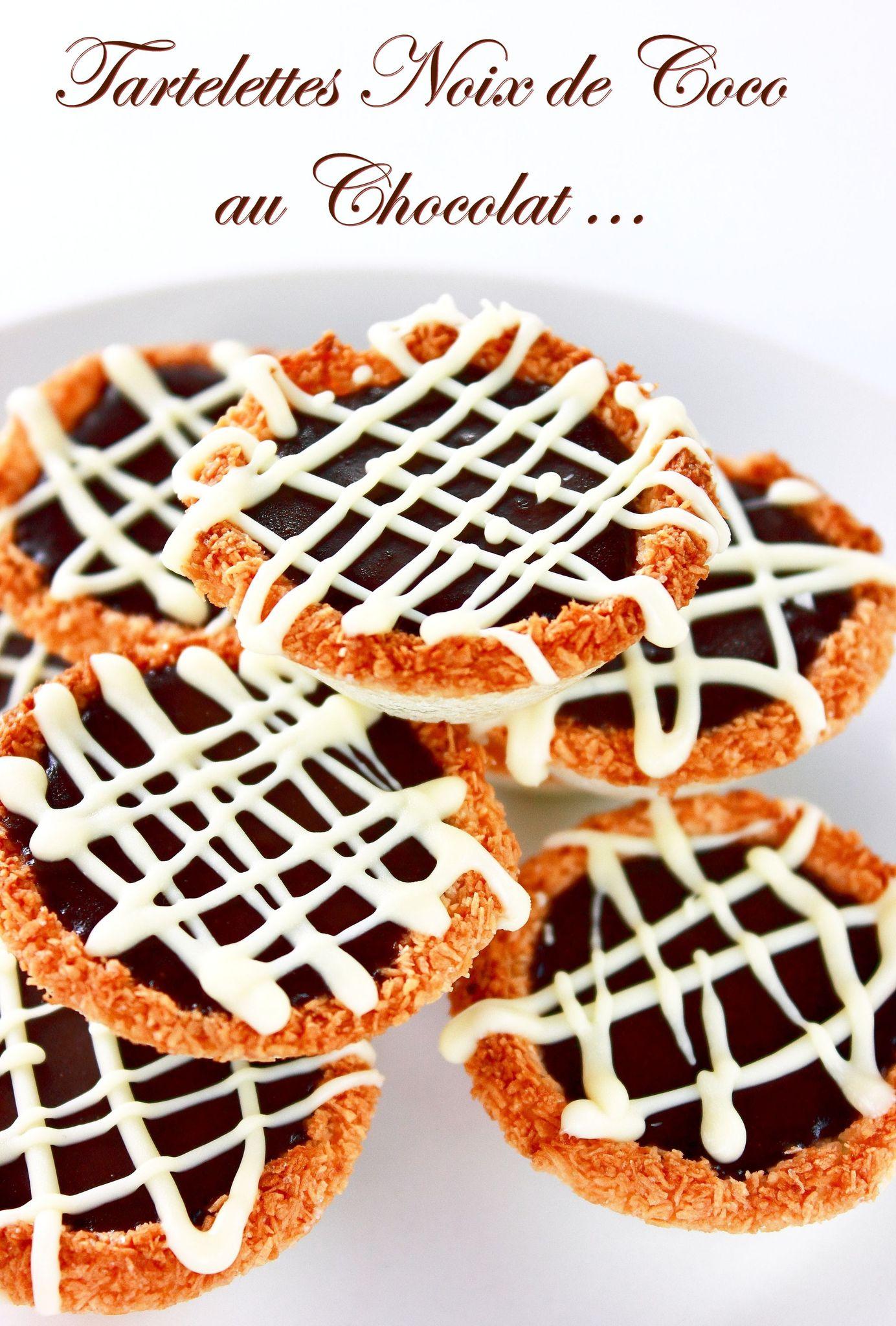Mini-Tartelettes noix de coco & chocolate