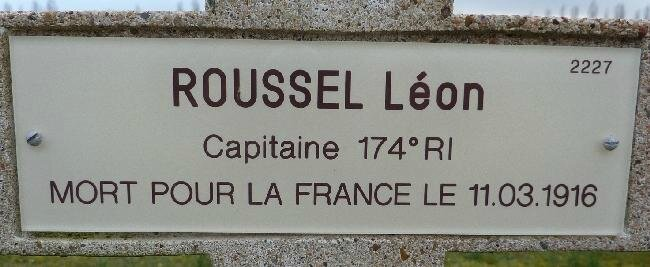 ROUSSEL Leon Plaque Tombe