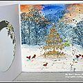 Deux petites cartes à l'aquarelle (dt crafty individuals) et un joyeux noël à tous / two watercolor cards and merry christmas!!