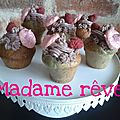 Cupcakes à la framboises