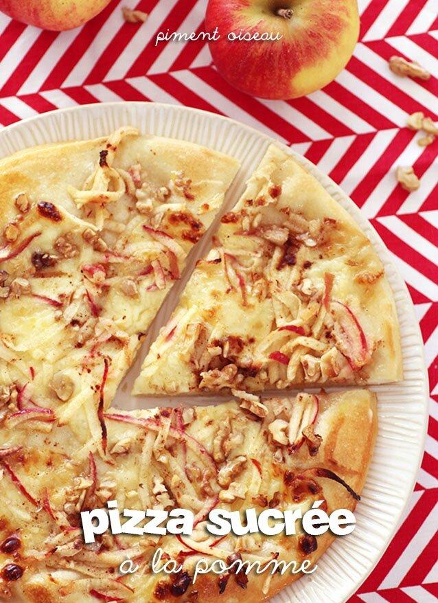 Pizza sucrée à la pomme