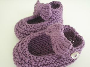 modele tricot chausson fille