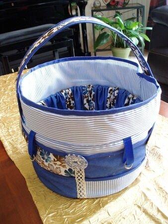 sac bleu couture