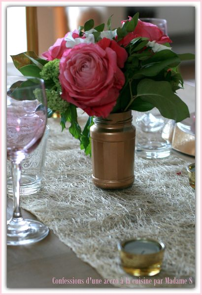 Table rose et or 021