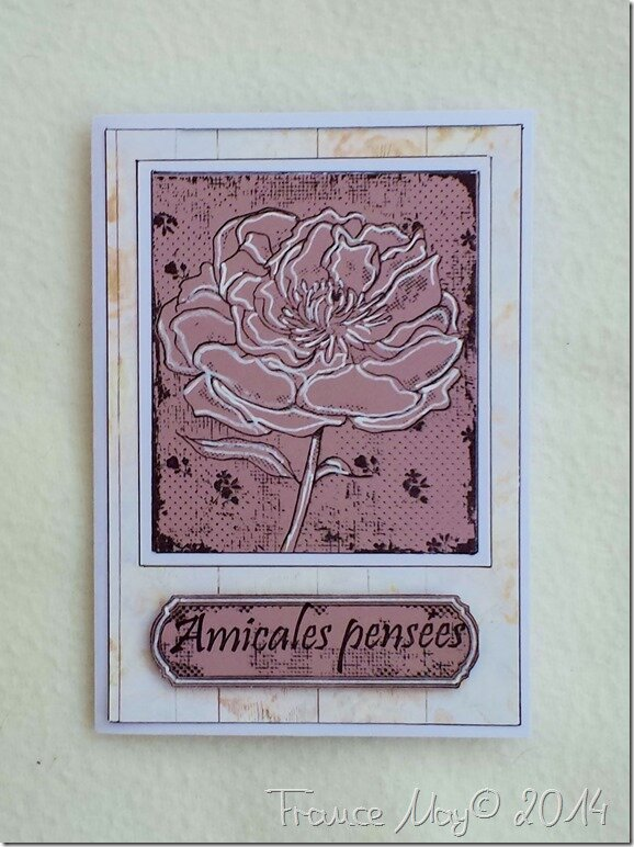 CARTE AMICALES PENSEES