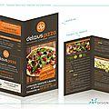 Delizius pizza : dépliant menu pour restauration