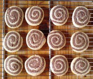 spirales choco vanille