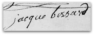 Bossard Jacques signature