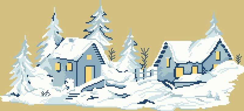 village sous la neige 04 grille pt