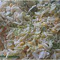 Salade d'avoines de savoie au surimi