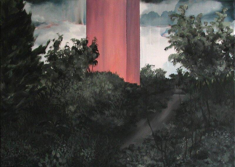 Linda Roux, A family III, acrylique sur toile, 70 x 50 cm, 2009