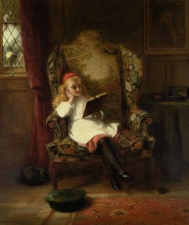 Oneil_George_Bernard_A_Good_Read_Oil_on_Canvas-large