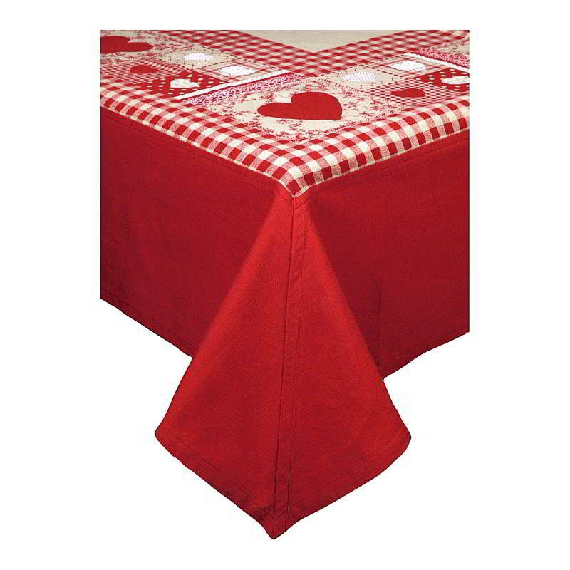 nappe de table forever rouge country corner aux portes de la deco d co pas cher d co amadeus. Black Bedroom Furniture Sets. Home Design Ideas
