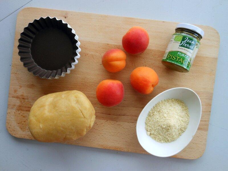 Tartlettes abricots pistaches prep0