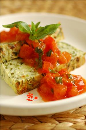 Terrine courgettes-menthe & vinaigrette tomates-basilic_2