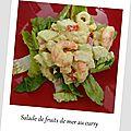 Salade de fruits de mer au curry