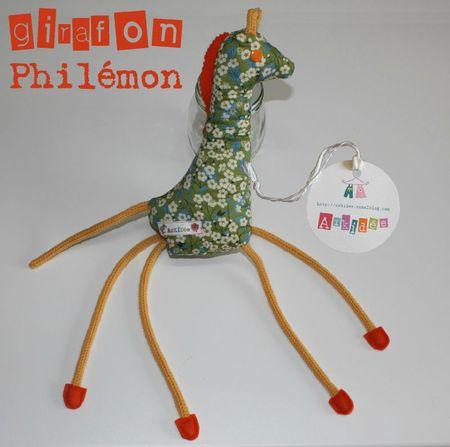 Girafon profil droit